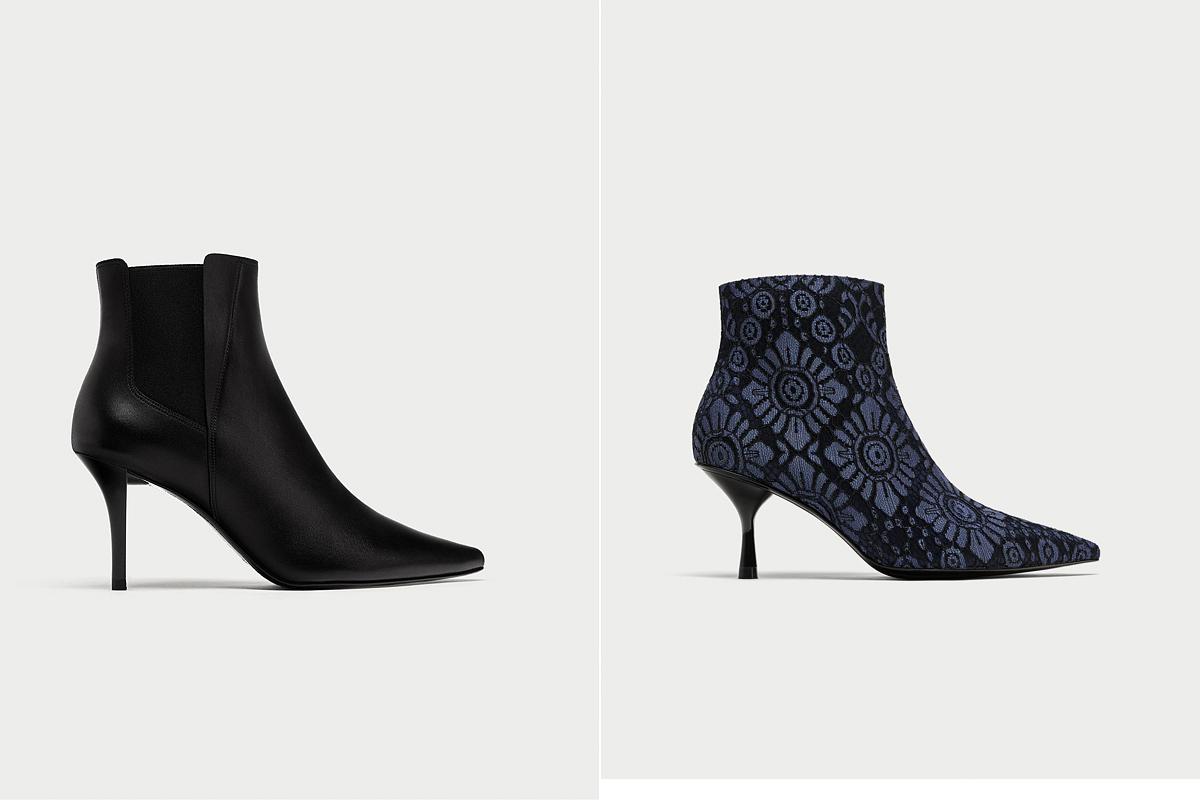 A Zara kollekciójában két igazán csinos kreáción akadt meg a szemünk: a láb vonalát követő, fekete fazon 19 995 forintért, a mintás anyagú 17 995 forintért kapható.