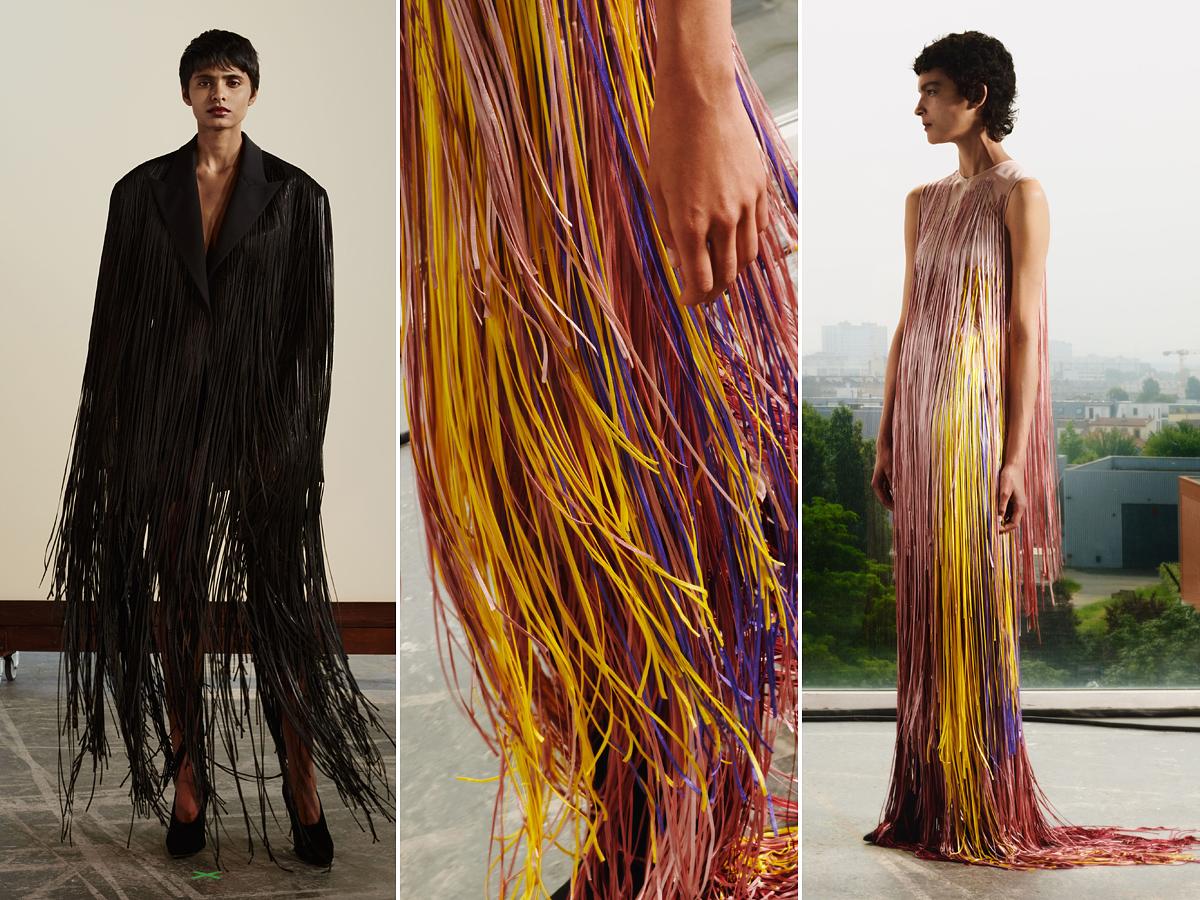 Úgy tűnik, a zsinórokból készült ruha is menő lesz a jövő évi divatban.