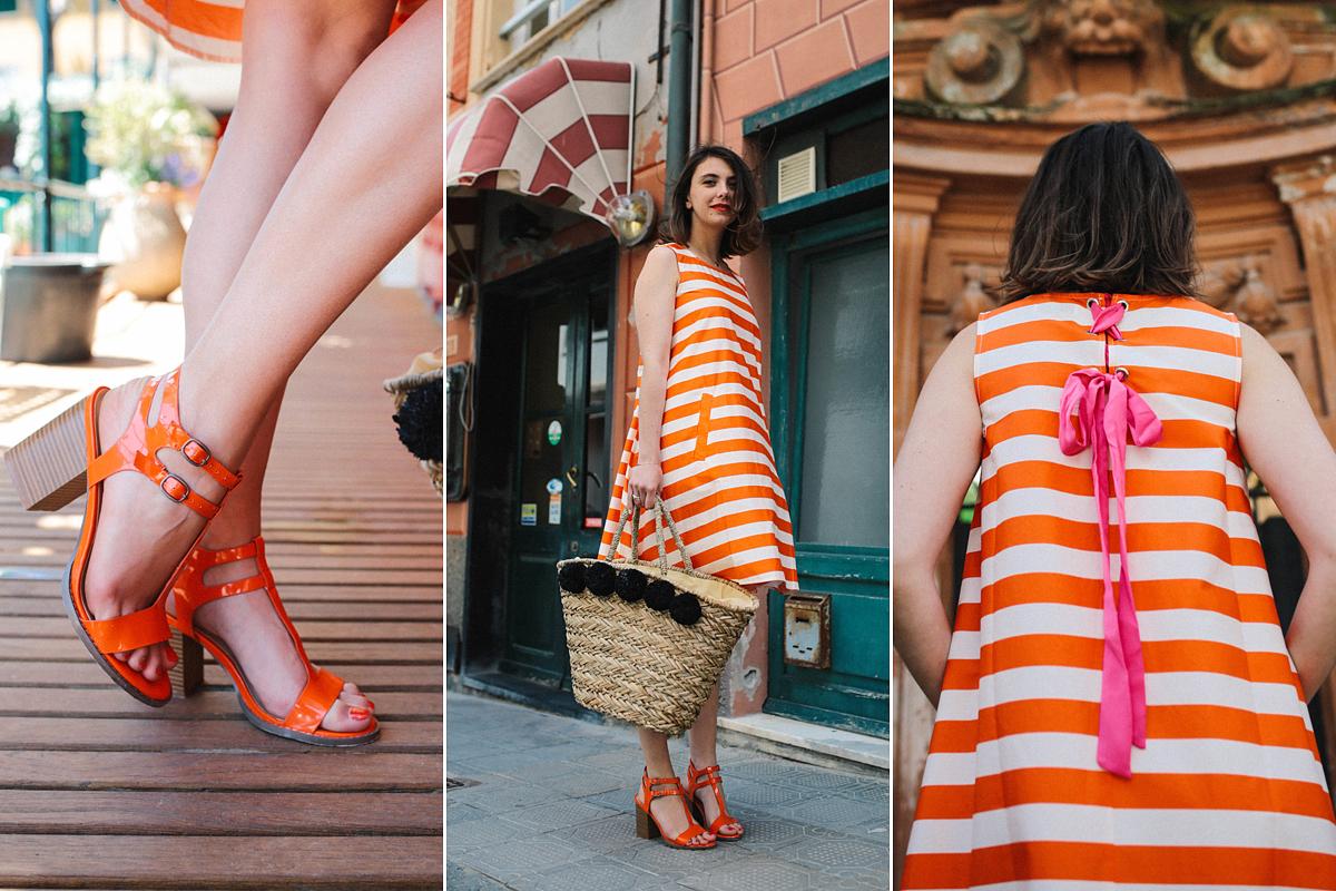 A monokróm, narancsszínű öltözéket dobd fel egy csipet lilával vagy ragyogó rózsaszínnel.
