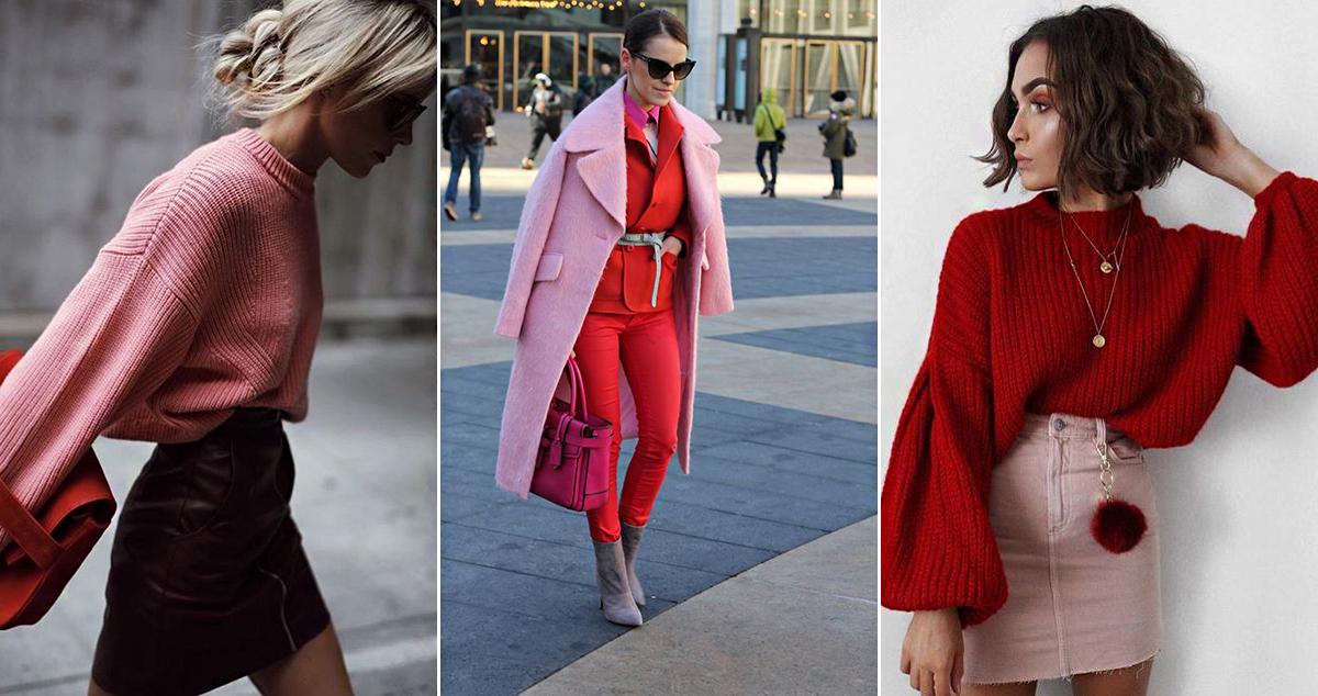 A rózsaszín, a vörös és a bordó árnyalatai is nagyon divatosak most télen. Mivel ezek rokonárnyalatok, szuper jól mutatnak együtt.