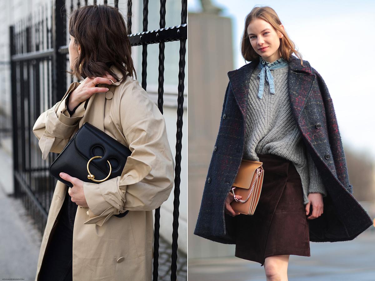 Bátran válassz nagyméretű borítéktáskát az átmeneti kabátodhoz.