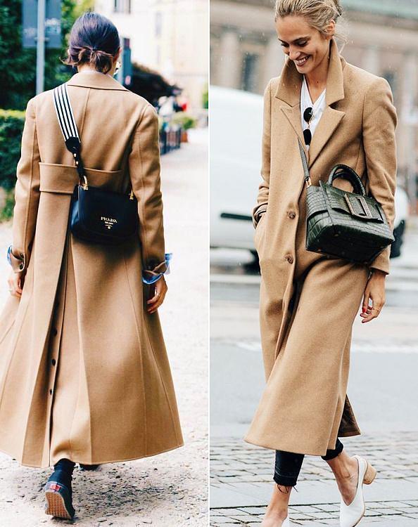 Az átdobós, pántos fazon is jól passzol a most divatos kabátokhoz.
