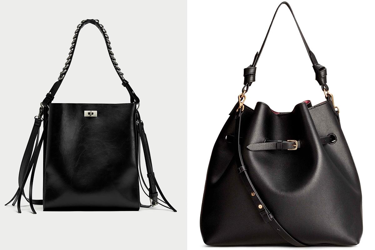A klasszikus, fekete táskák soha nem mennek ki a divatból, de idén a vagány rojtokhoz, valamint a batyufazonhoz is ragaszkodunk. A Zara táskája 11 995 forintba, a H&M kreációja 8990 forintba kerül.