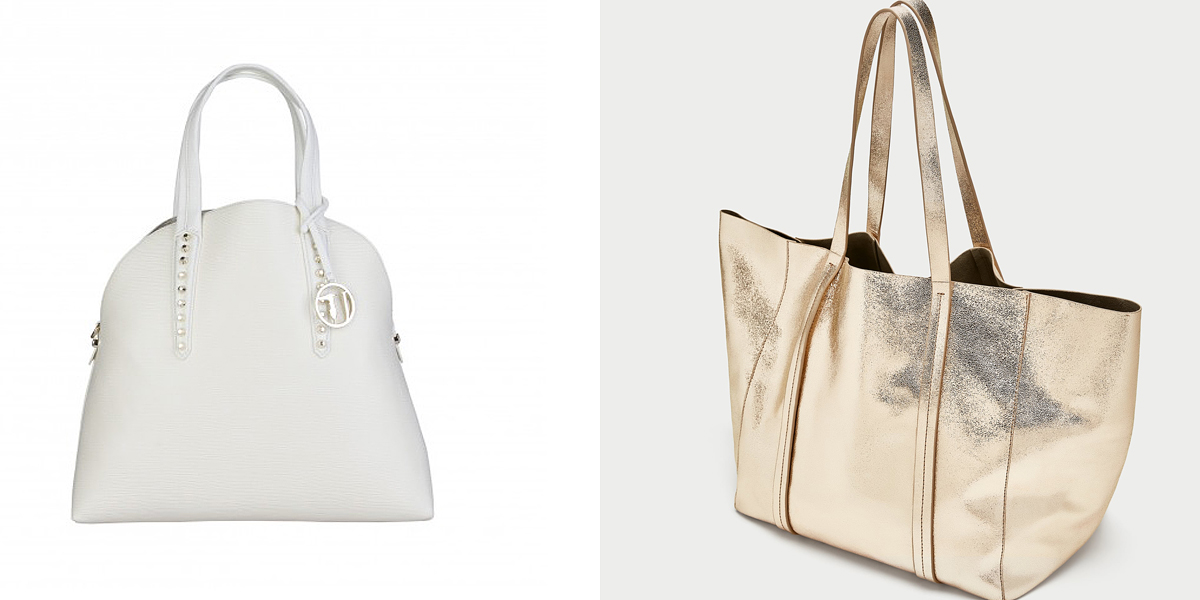 A fehér és a metálfényű táskaszínek szintén divatba jönnek: a Trussardi darabját most akciósan 35 940 forintért rendelheted meg a Feminashop.hu-ról, a Zara shopper fazonját pedig 22 995 forintért vásárolhatod meg.