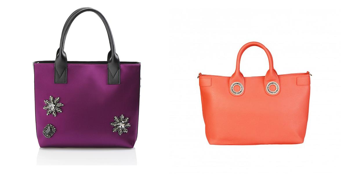 A vad színek is megjelennek a tavaszi kiegészítők palettáján: a Pinko lila táskáját 170 euróért vesztegetik, a Versace Jeans narancssárga darabját pedig 73 824 forint helyett most 46 140 forintért rendelheted meg a Femina webshopjából.