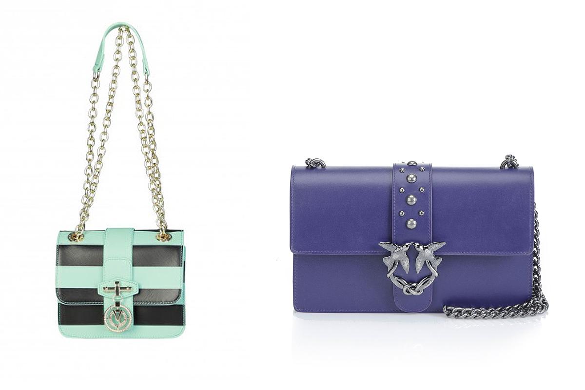 A merész árnyalatú és színblokkos táskák szintén divatosak lesznek tavasszal: a Versace Jeans válltáskájához most jutányos áron, 49 500 forint helyett 33 000 forintért juthatsz hozzá, ha megrendeled a www.feminashop.hu weboldalon. A Pinko üzlete az Andrássy úton található, ott bukkanhatsz rá erre az ultraviola színű gyönyörűségre is, mely Európában 345 eurós egységáron kapható.
