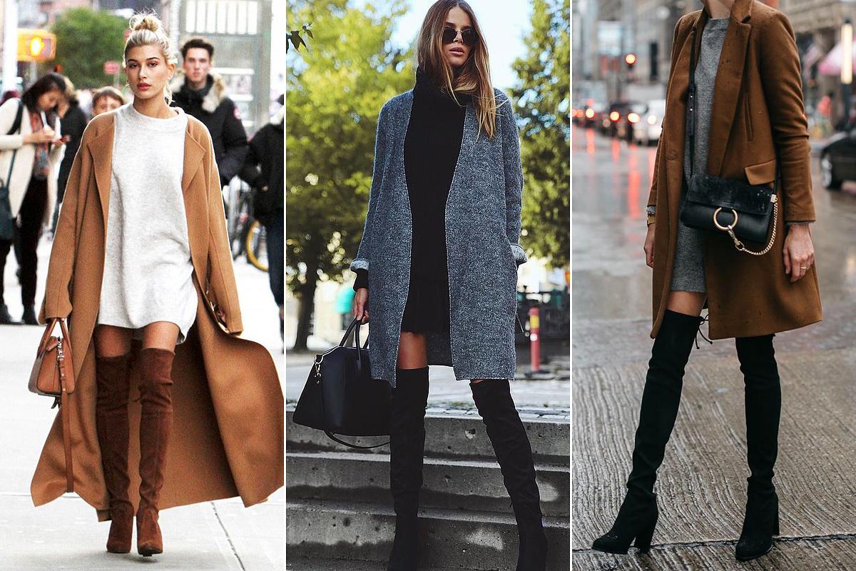 Lehetőleg egyszerű fazonú, egyenes vonalú kabátot válassz a hosszú szárú csizmához, így ugyanis megnyújthatod az alakodat.
