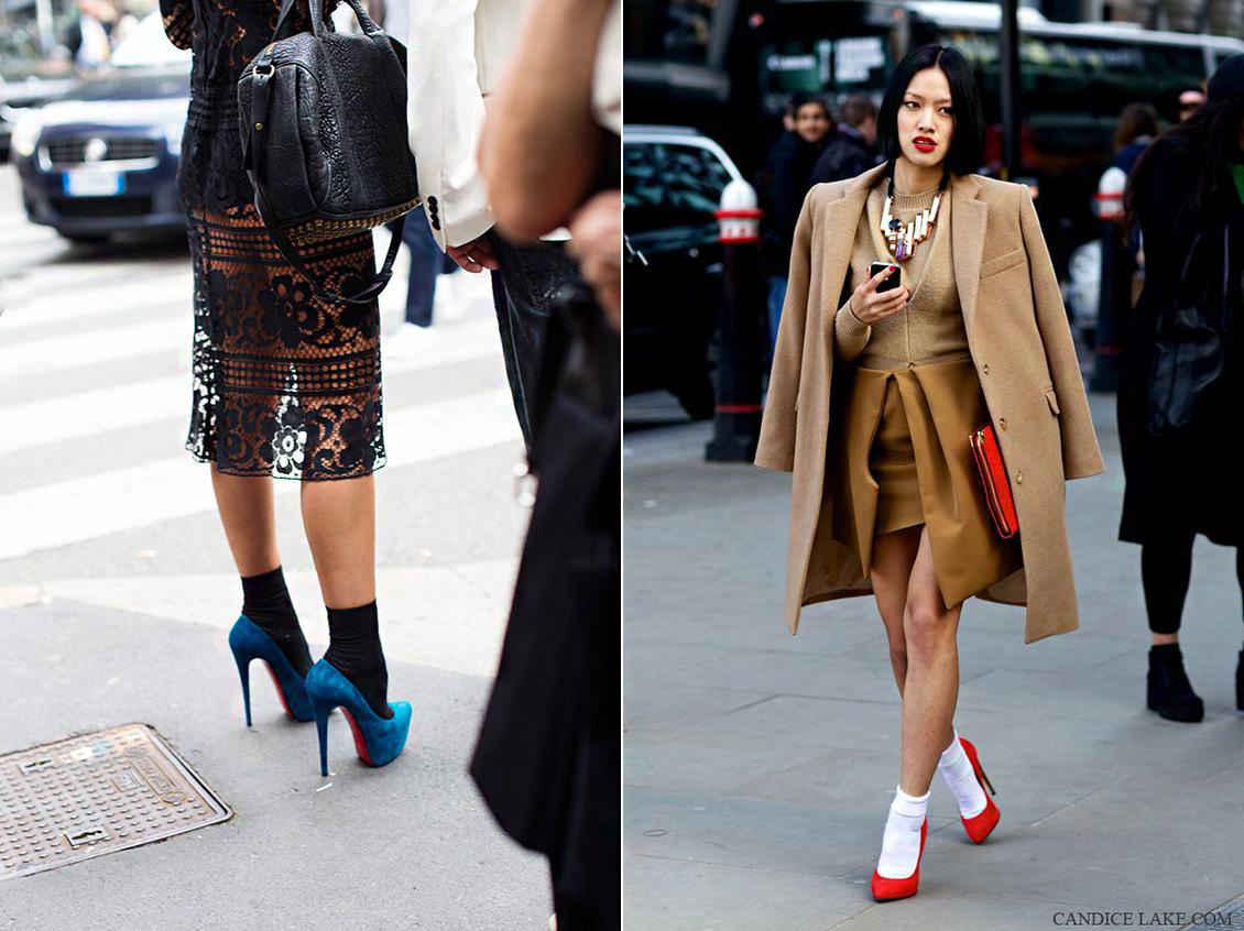 A tavaszi kollekciók bemutatójára már sokan az új trendeknek megfelelően öltöztek fel.