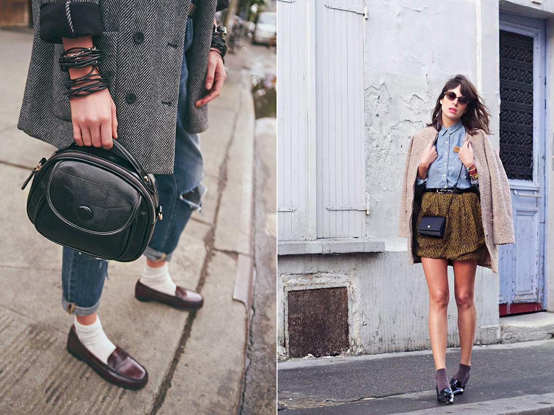 Bokavillantó farmerral és miniszoknyával is sikkes a zokni a tavaszi trendek szerint.