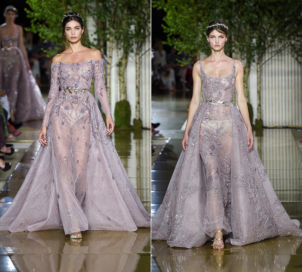A kollekció romantikáját lágy pasztellszínekkel erősítette a tervező.