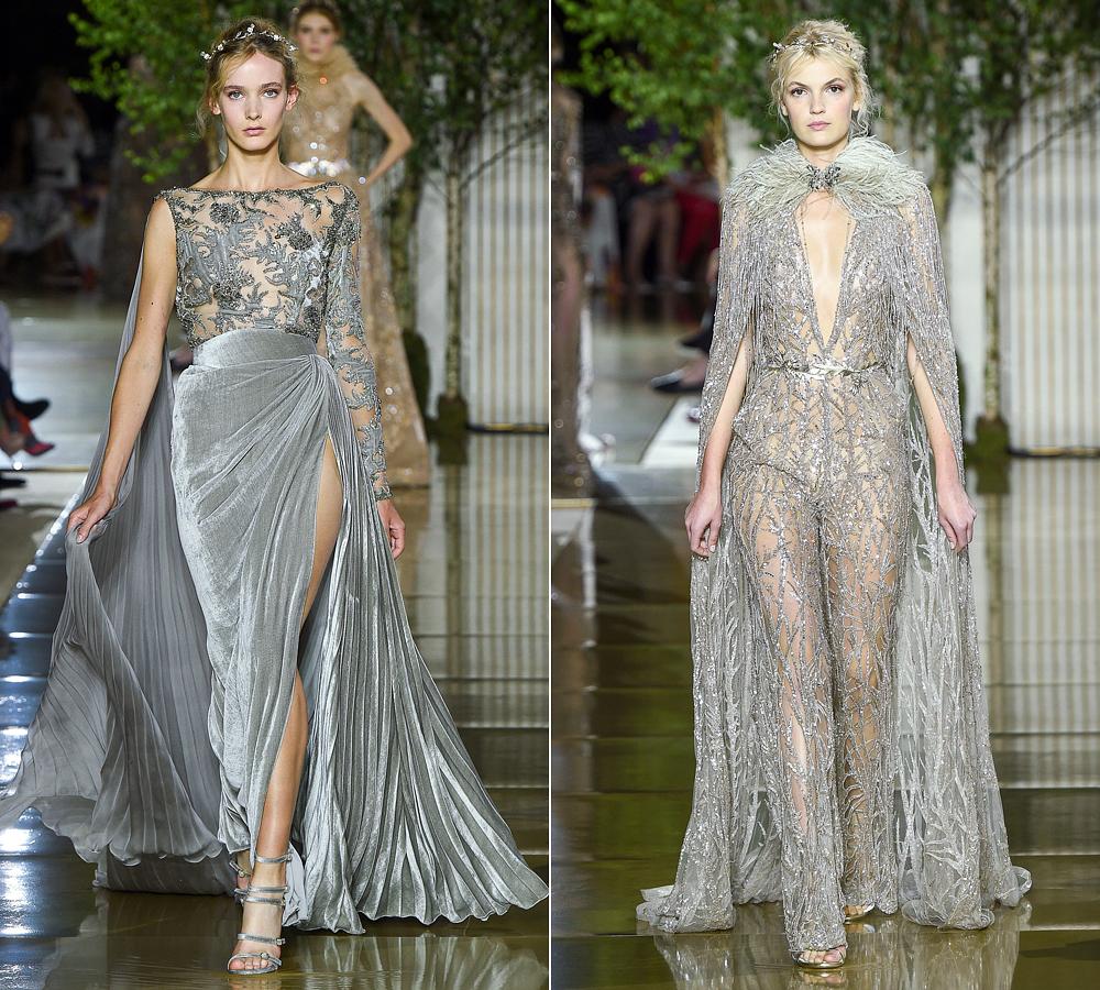 A múlt és a jelen divatja találkozik a metálosan csillogó és fémszálas anyagokban.