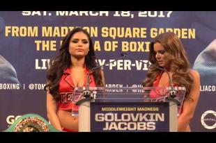 Golovkin vs Jacobs sajtótájékoztató