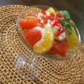 Színes grapefruit-saláta mascarpone-habbal