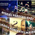Nyerjél páros-belépőt az Uránia koncertfilmjeire!