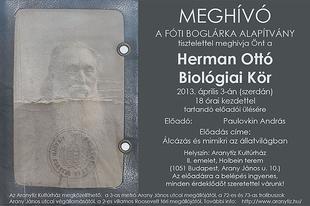 Herman Ottó Biológiai Kör - Paulovkin András: Álcázás és mimikri az állatvilágban