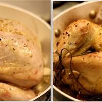 Egészben sült csirke, nem kevesebb mint 40 gerezd fokhagymával
