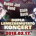 RUDÁN JOE BAND & STULA ROCK - Dupla lemezbemutató koncert a Crazy Mamában