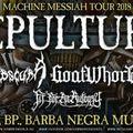 SEPULTURA - Februárban az Obscura, a Goatwhore és a Fits For An Autopsy társaságában Budapesten!