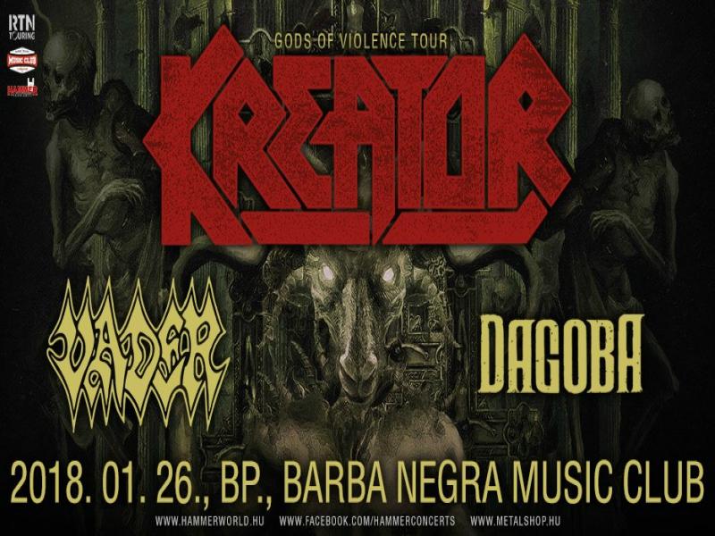 KREATOR – Január 26-án a Barba Negra színpadán pusztít a német thrash legenda