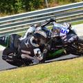 Sebestyén Peti #56 a Hungaroringen tesztelte a Kawasaki versenymotorját.