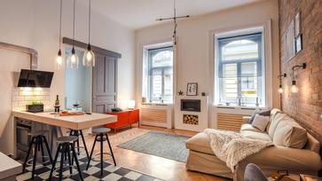 65 négyzetméteres, fiatalos lakás a belvárosban