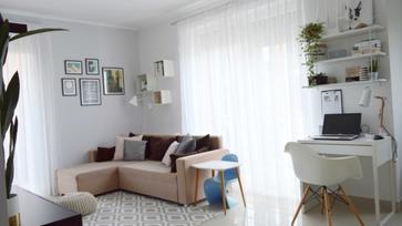 A nappalink a festés után