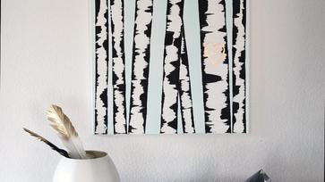 DIY kép ötlet: Nyárfaerdő egyszerűen