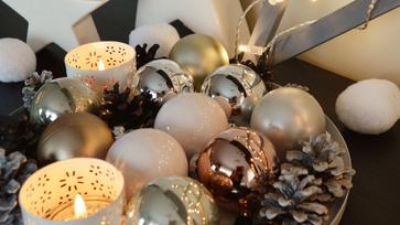 Ripsz-ropsz karácsonyi dekoráció