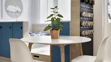 Kis moszkvai lakás beépített erkéllyel