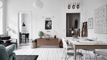 Másfél szobás svéd lakás egy 119 éves házban