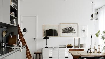 Egy svéd lakás, amit egy enteriőr stylist varázsolt különlegessé