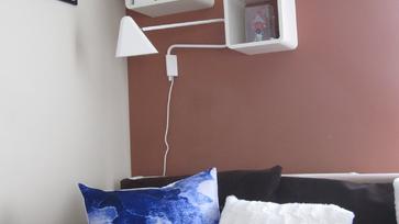 Lamoppe párnák a nappaliban