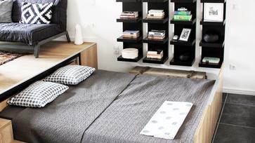 Dobogóba rejtett ágy esete a szülői hálóval