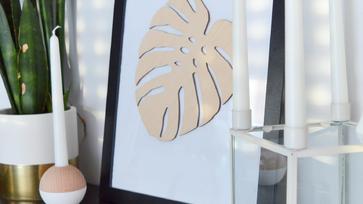 Szuperkönnyű DIY kép filodendron levéllel