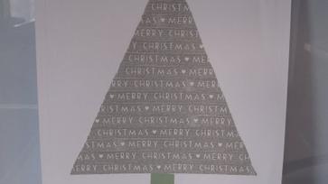 Dekortapaszos karácsonyfa 2.0