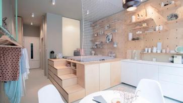Apró minimalista lakás Budapest szívében