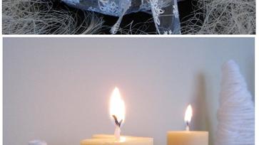 Karácsony készülődés: Adventi koszorú feketén-fehéren