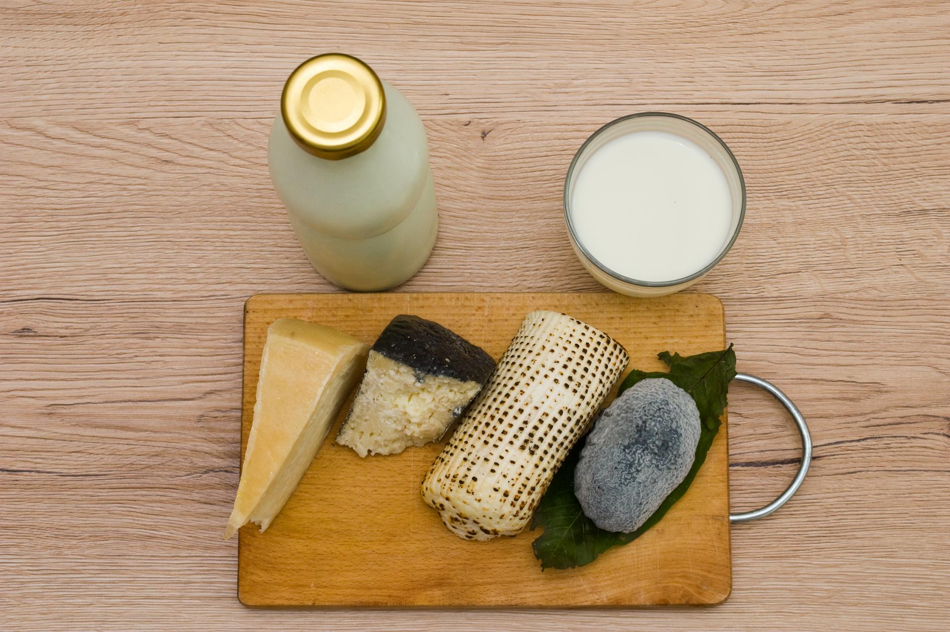 Joghurt, tej, Hófehér érlelt sajt, Negro érlelt sajt, Parázska pörkölt friss sajt, Vakond penészes-faszenes lágysajt