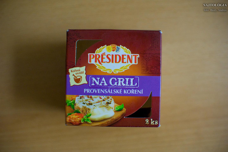 Président na Grill: nem éri meg, akármelyik Camembert-tel elérhető ennek a végeredménye is. Amúgy egy korrekt, finom sajt sületlenül is.