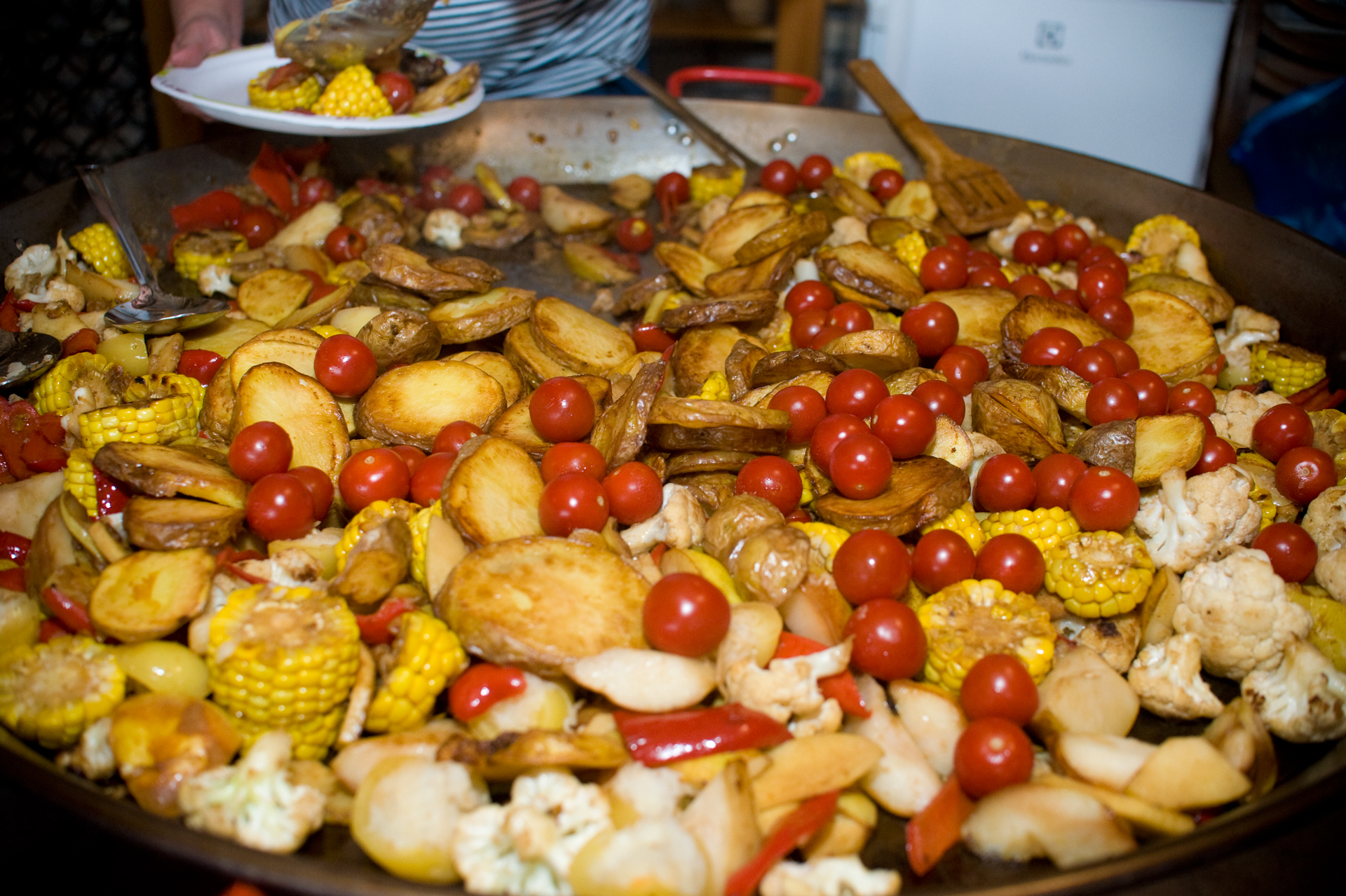 Vacsora körete: krumpli, körte, kukorica, paradicsom...