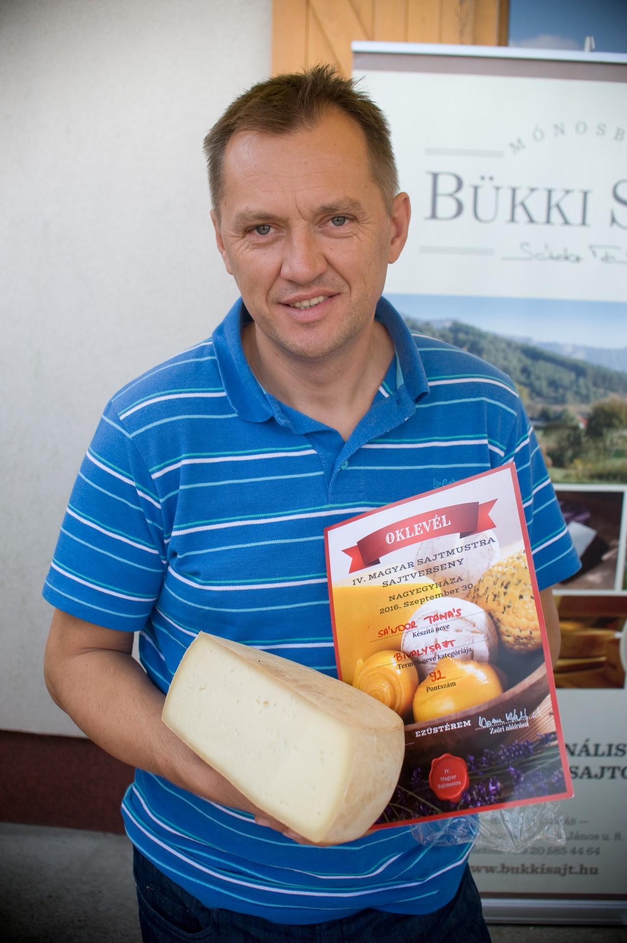 Sándor Tamás, Bükki Sajt: a díjnyertes Bivaly sajttal