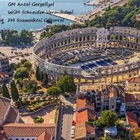 Végeredménnyel - Az első kiemelt GM Antal Gergellyel, WGM Schneider Veronikával (24) és FM Szamosközi Gáborral (16)- 31st Pula Open 2017 - Pula CRO 09.09.2017- 16.09.2017