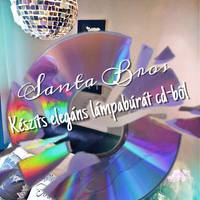 Készíts elegáns lámpabúrát cd-ből!