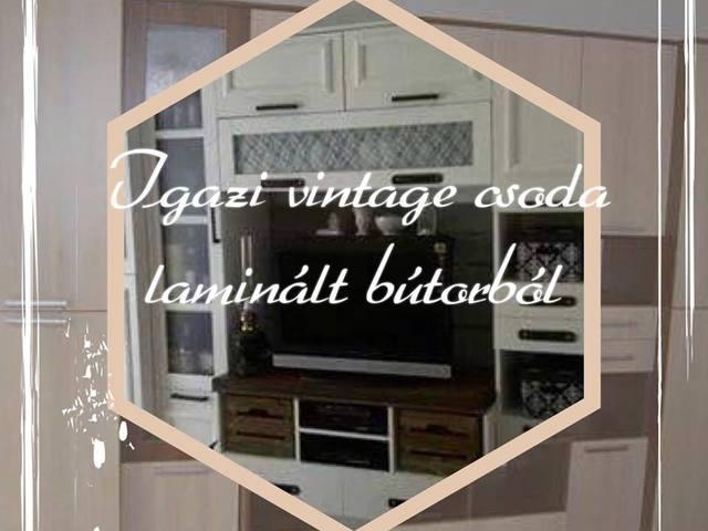 Igazi vintage csoda a laminált bútorból!