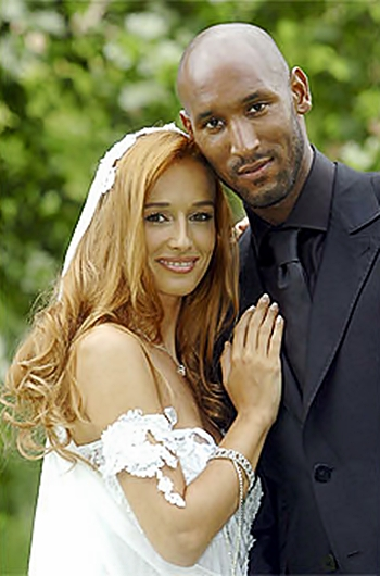 Nicolas Anelka with Wife Barbara Tausia