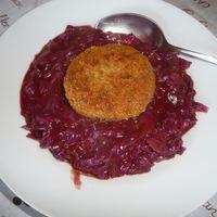 Paradicsomos lila káposzta főzelék - cukros diétám 5