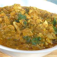 Indiai csirke curry főtt pulykából