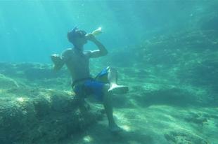 Sört inni víz alatt