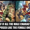 Milyen lenne, ha a legkőkeményebb karakterek is úgy pózolnának, mint a női hősök szoktak?