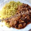 Gombás csirkepörkölt - 250 kcal